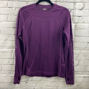 Lululemon silverescent long  sleeve shirt